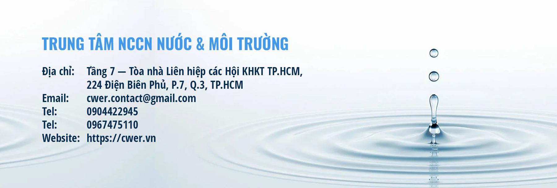 TRUNG TÂM NCCN NƯỚC & MÔI TRƯỜNG CWER